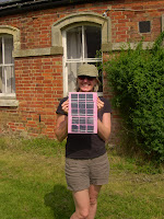 Me with my solar panel in the sun