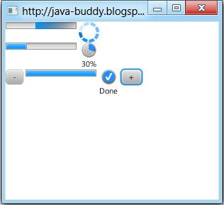 JavaFX 2.0: ProgressBar and ProgressIndicator