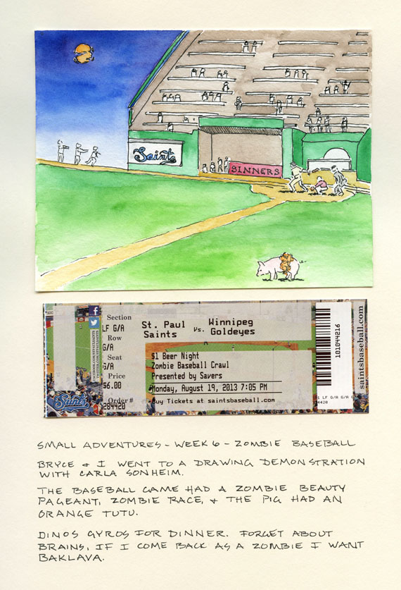 art journal page st paul saints