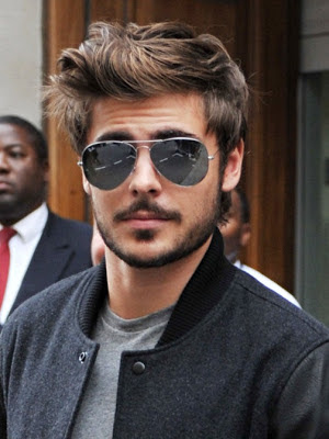 zac efron light beard