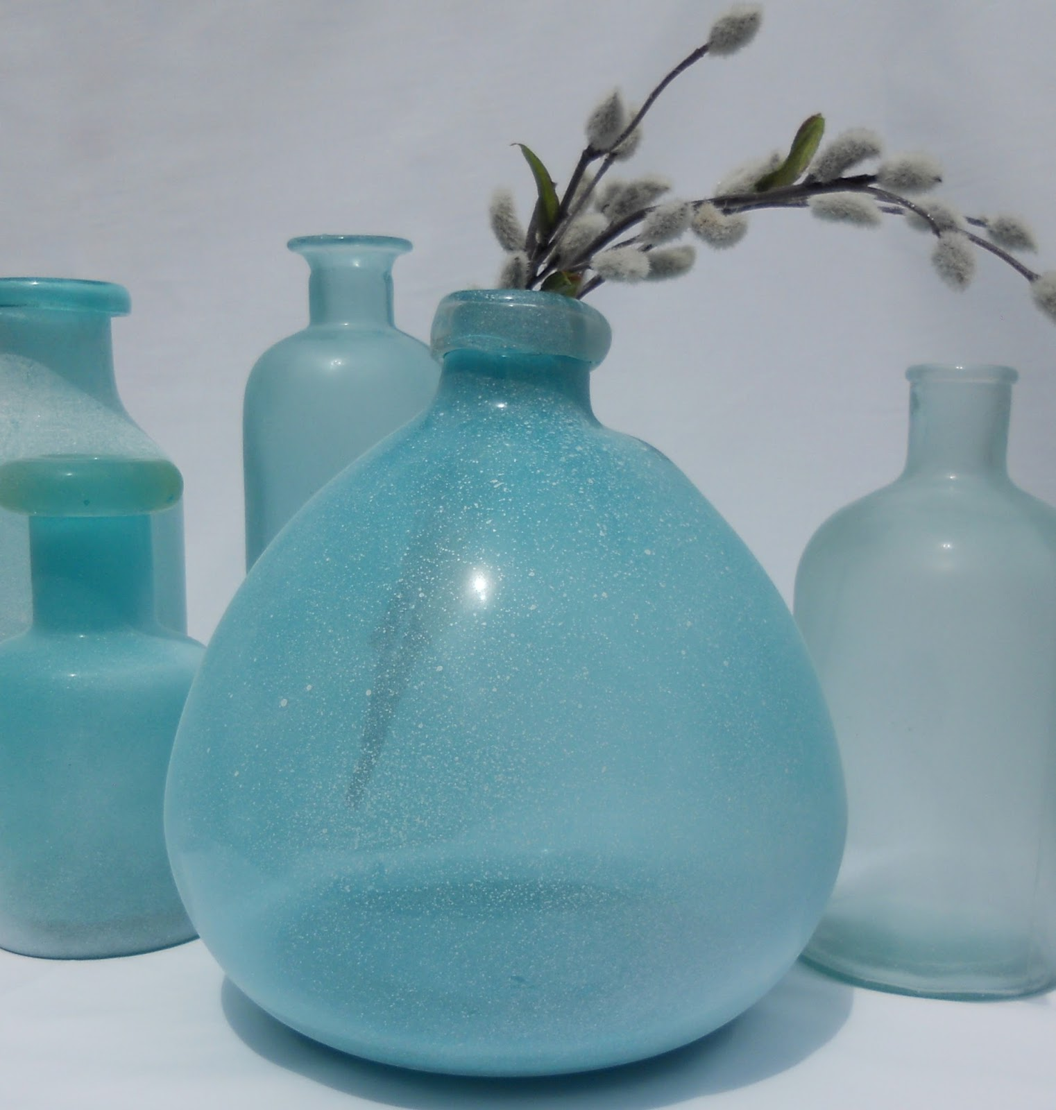 Just Another Hang Up DIY Sea Glass Vases
