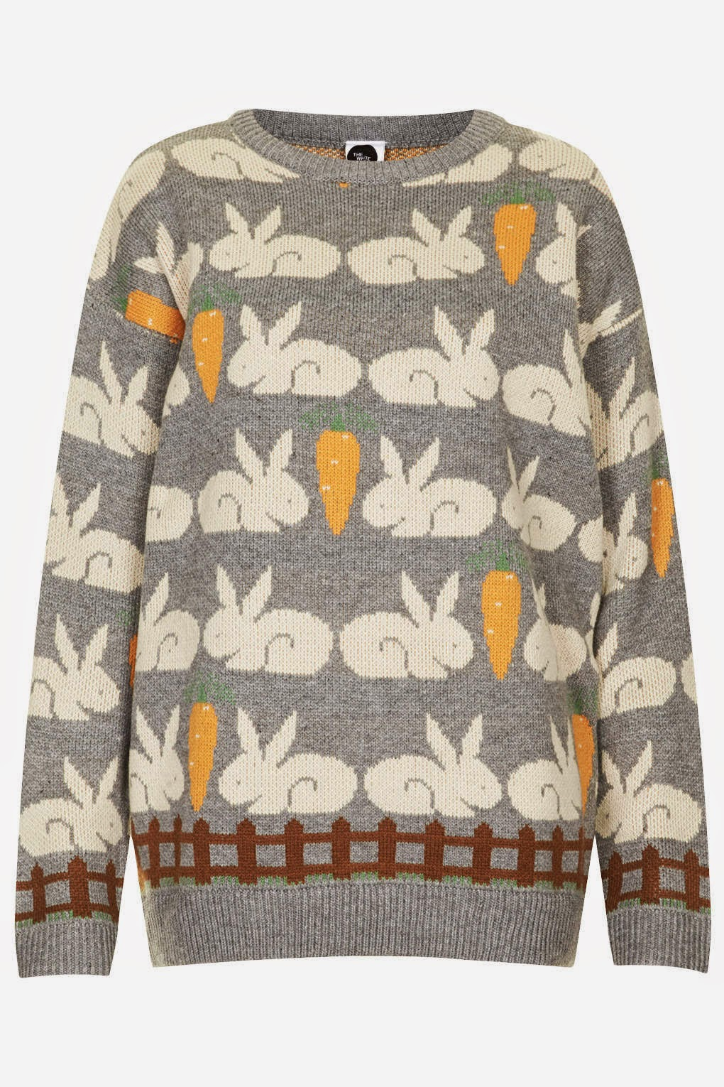 rabbit print jumper