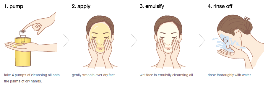 cleansing oil , how to use cleansing oil
