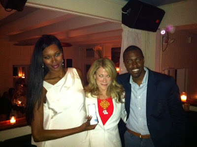 Jessica White, Tina (Mercy), Phaon Spurlock at Jessica White's Benefit Dinner