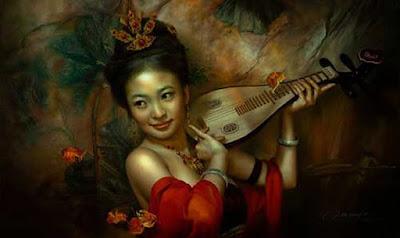 Rostros Hermosos de Mujeres de China,