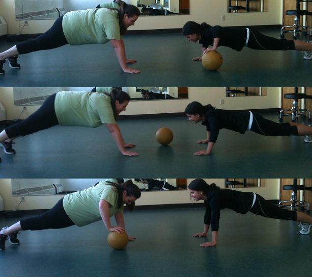 Bosu Ball Push Ups: Fitness Cookie.: Valentine's Day Partner Workout