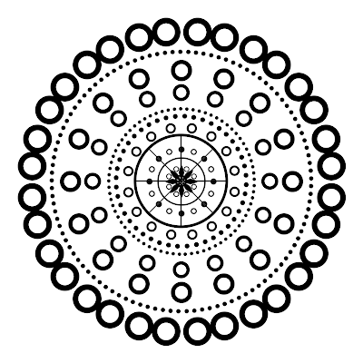 Dotted Mandala 8 Sections 16 Point Circle Medalion Free Large High Resolution PNG Clip A
