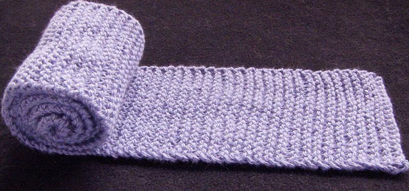 Knitting Garter Stitch Scarf :