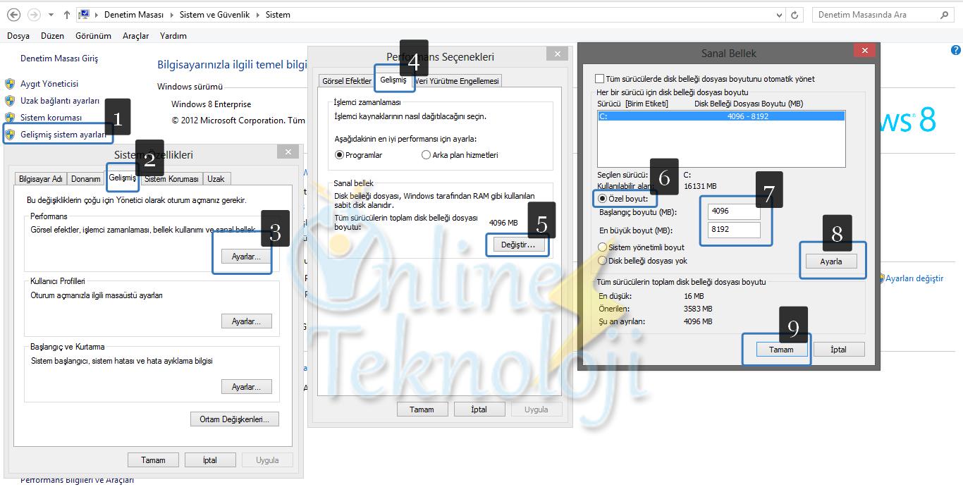 Windows 8 %100 Disk Kullanım Sorunu