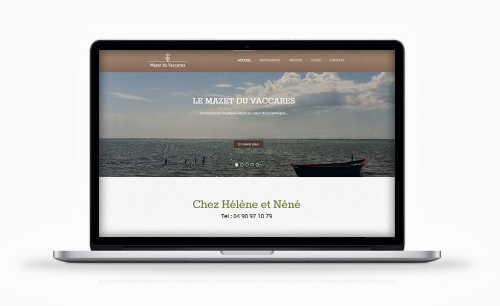 Site internet Restaurant Mazet du Vaccarès