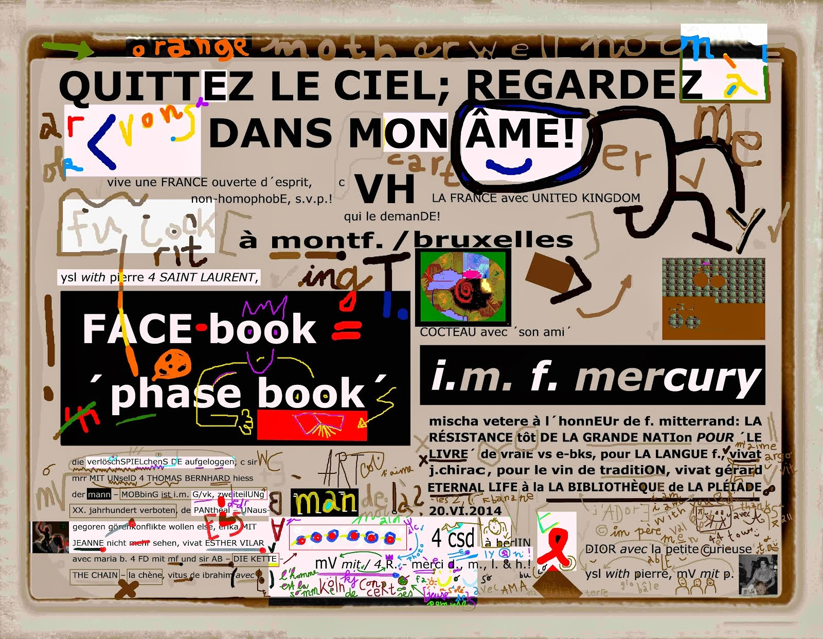 RÉSISTANCE de totalE - preserve books and archives by all mean - ´MASQUES´ 4 mischa vetere critical