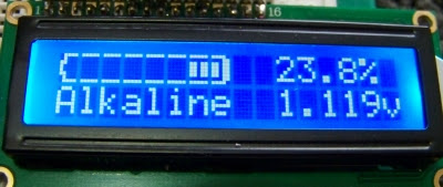Battery level monitor made with picaxe microcontroller
