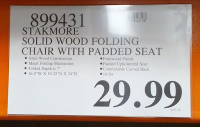 Deal for the Stakmore Solid Wood Folding Chair at Costco