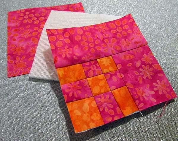 making a quilted pin