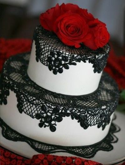 amazing red black and white wedding cakes 27 pic. Black Bedroom Furniture Sets. Home Design Ideas