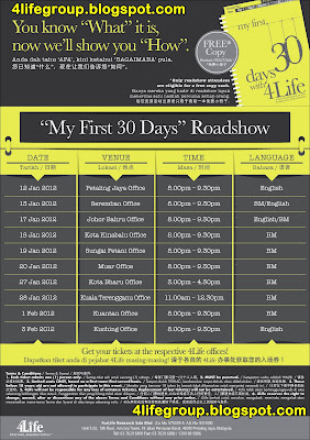 """My First 30 Days"" Roadshow"