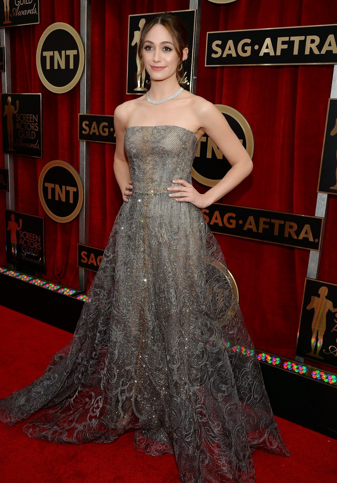 Actress, singer, songwriter: Emmy Rossum at 21st Annual Screen Actors Guild Awards in LA