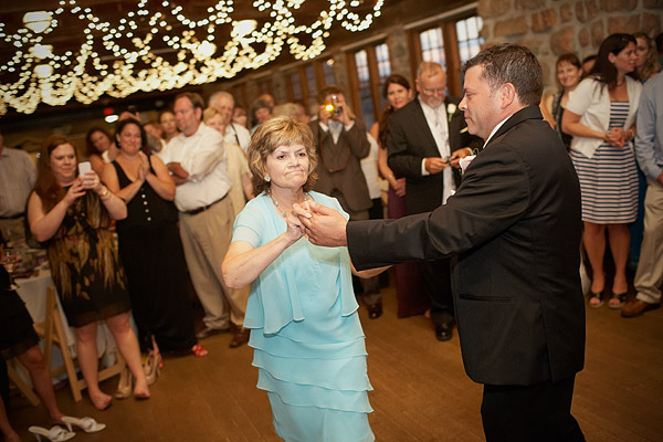 Narragansett Towers Wedding: Mother and son dance