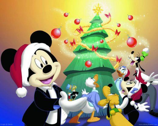Disney Christmas Wallpaper Desktop Merry Tree