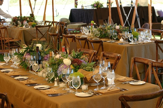 rustic themed wedding reception