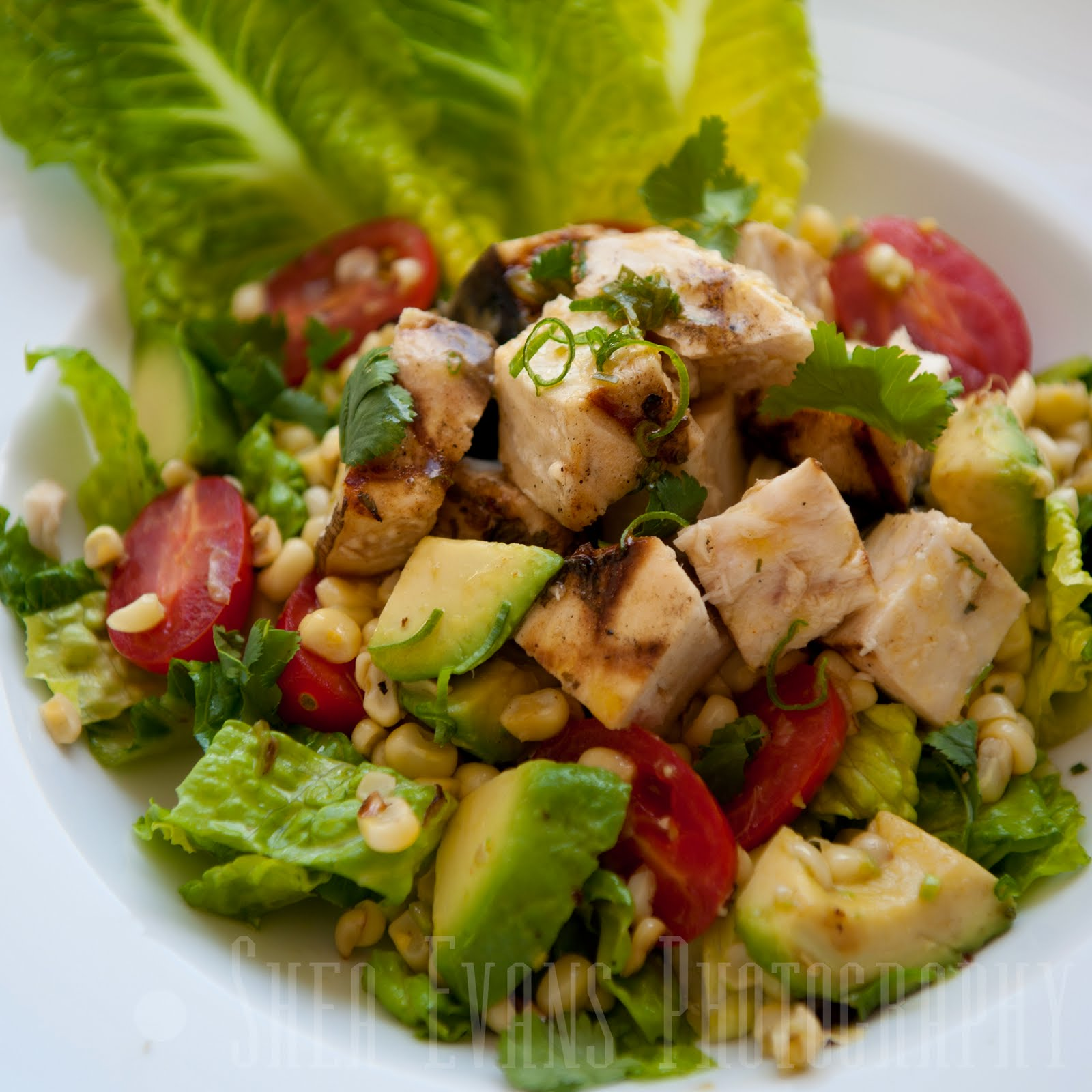 ... Hoover: Grilled Swordfish Salad with Avocado, Corn and Romaine Lettuce