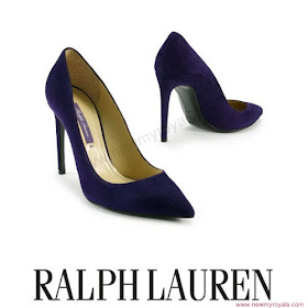 Crown Princess Victoria Style RALPH LAUREN Celia Pumps and RALPH LAUREN Ricky Chain Bag