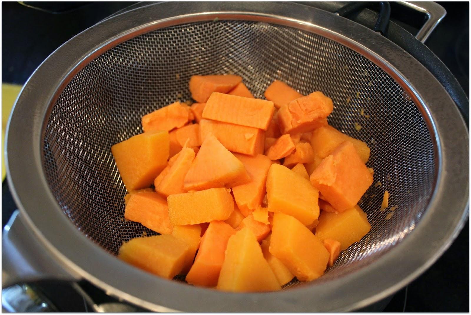 Butternut squash and sweet potato
