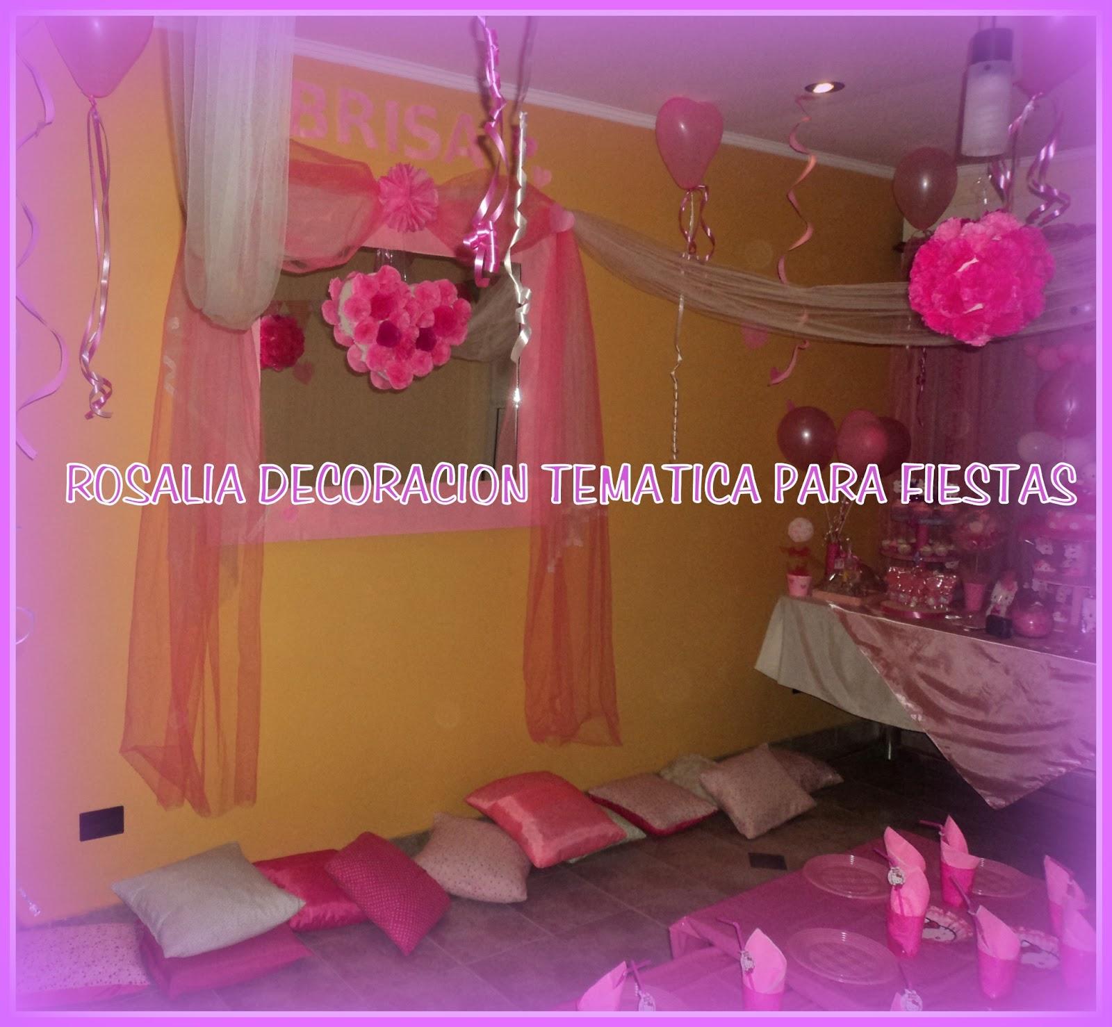 Rosalia decoraci n tem ticas para fiestas pijama party de nena - Juegos para chicas de decoracion ...