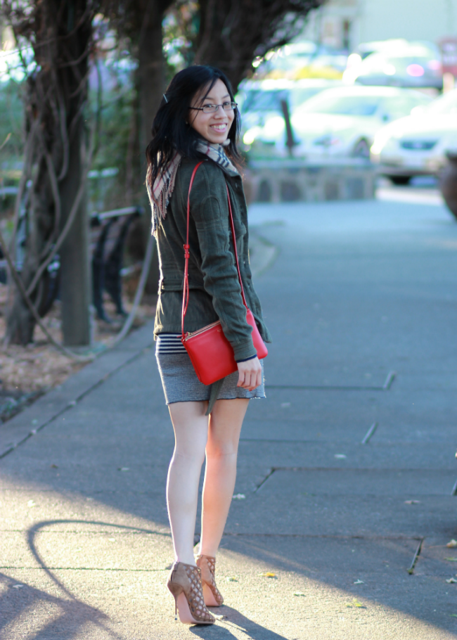 sweater jacket cargo casual winter outfit