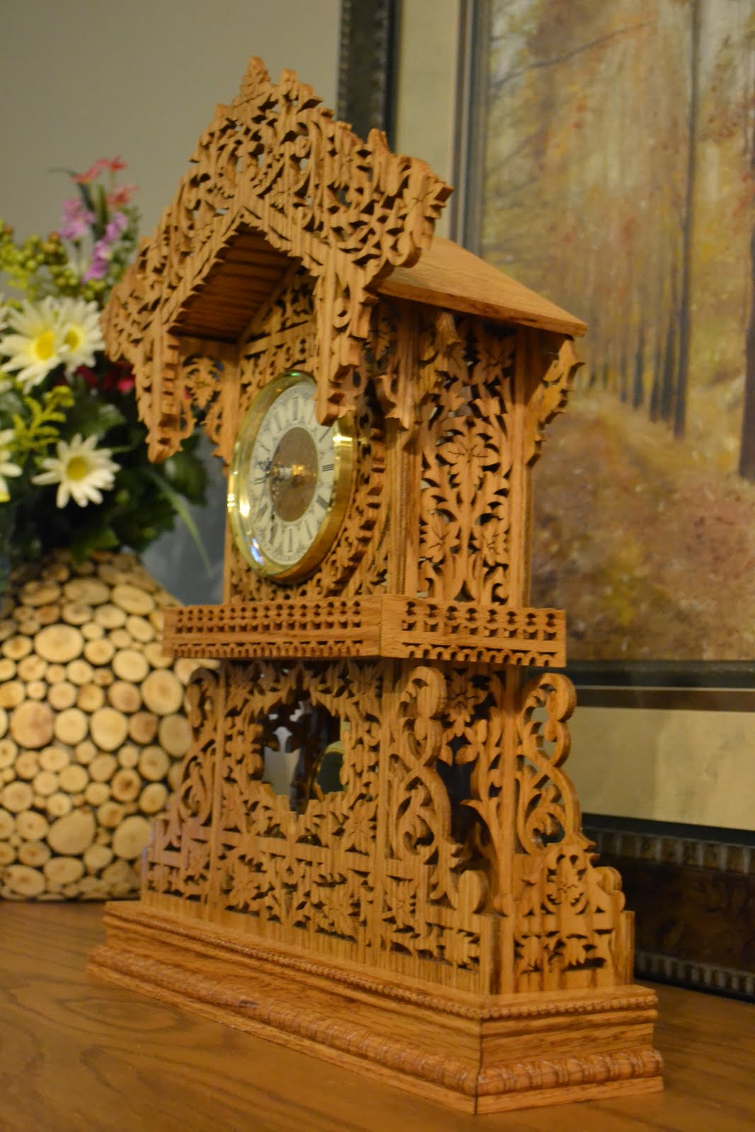 scroll bench  queens clock