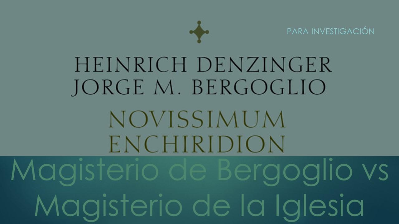DEZINGER - BERGOGLIO