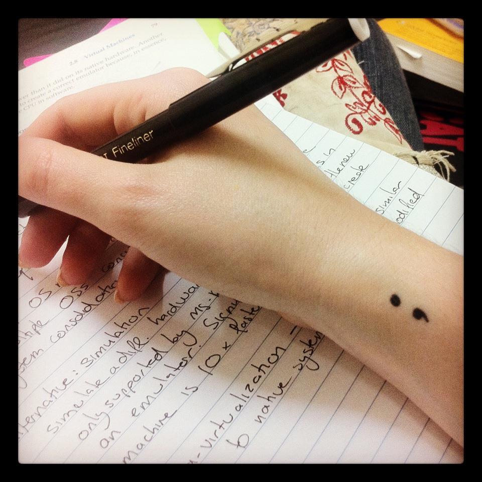 Pic of my semicolon tattoo