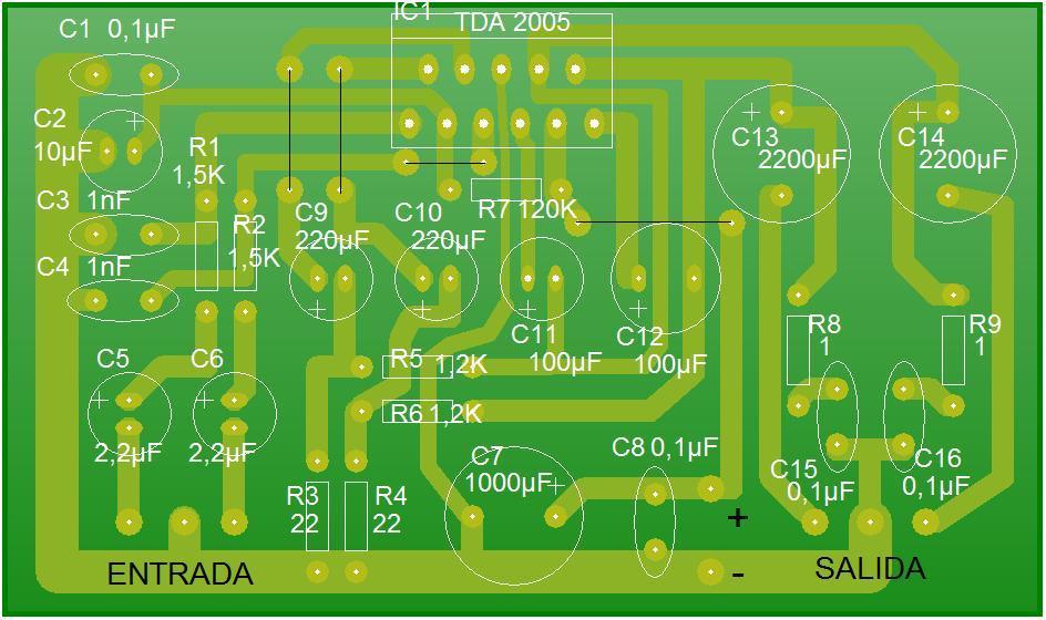 Circuito Impreso De Amplificador De 3000w : MargtecnologÍa presentaciÓn de un amplificador portÁtil