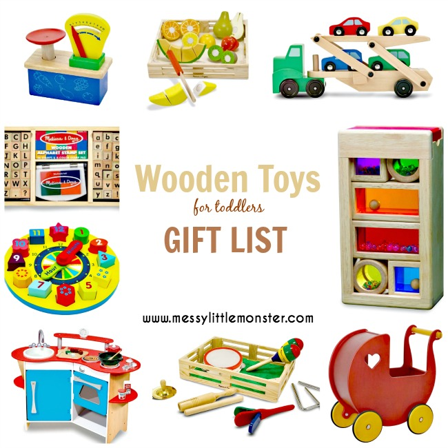 Wooden Toys for Toddlers - Messy Little Monster