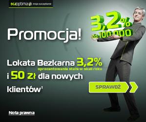 Lokata 3,2% + premia 50 zł