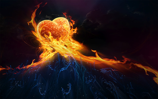 Fondo De Pantalla Coraz  N De Fuego   Heart Fire Wallpapers