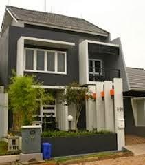 desain atap rumah minimalis 2 lantai, type 36 miring baja