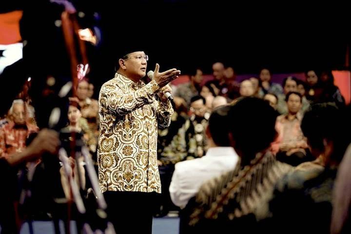 Prabowo Mengaku Pernah Ditegur JK karena Kritik Impor Beras
