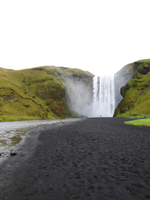 Waterfall in Skogar, Iceland.