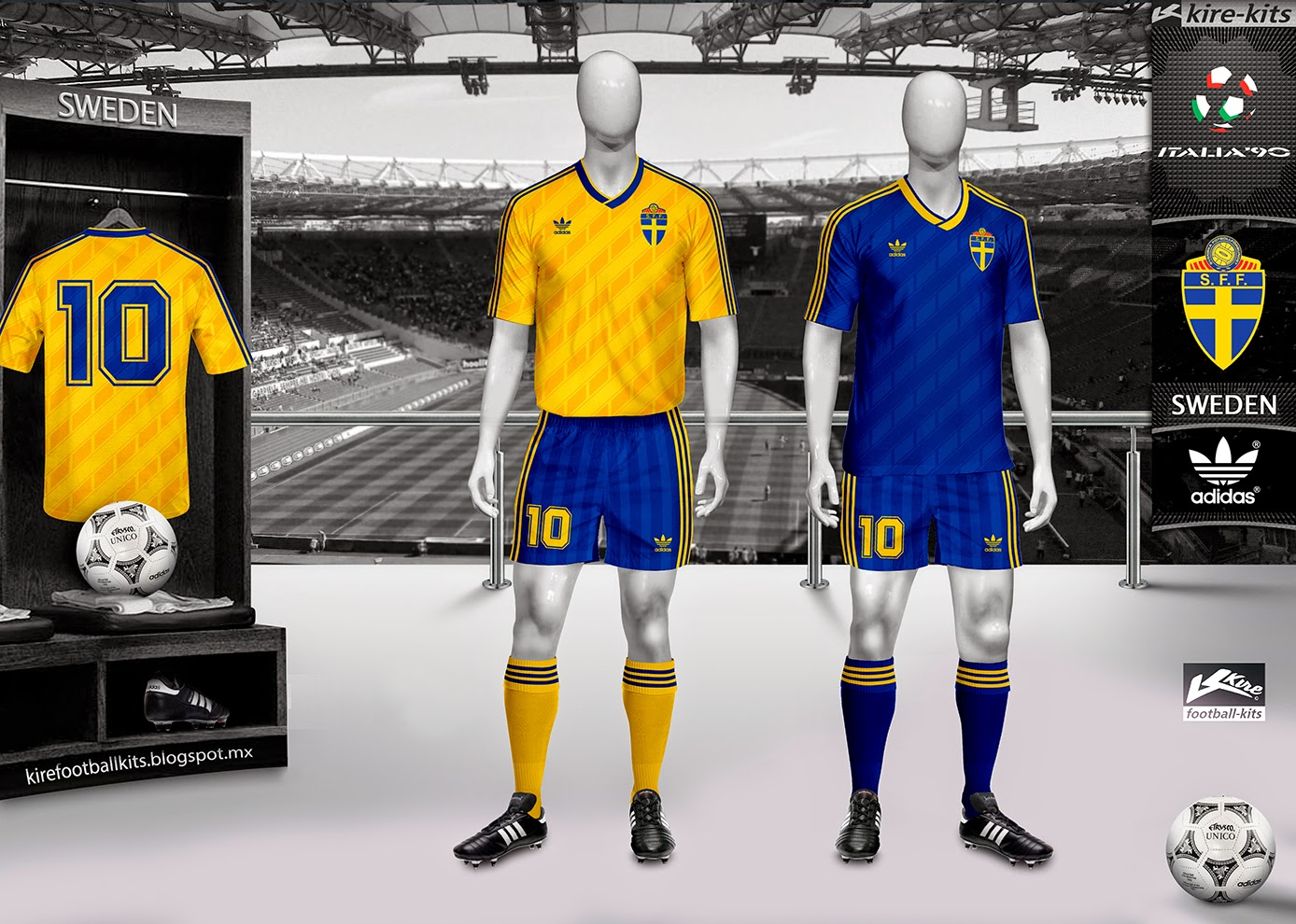 Kire Football Kits Sweden Kits World Cup 1990