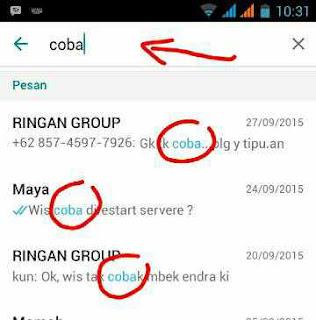Pencarian whatsapp