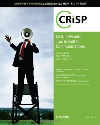 Image of CRiSP 50, one-minute tips to better communications cover.