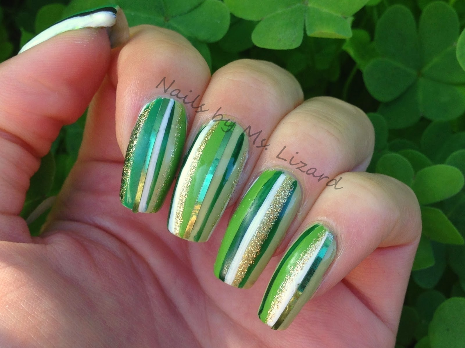 Nails By Ms Lizard More St Patricks Day Nail Art With Snoopy