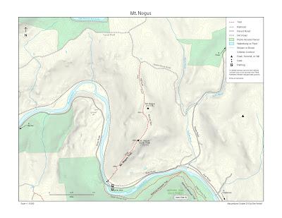 map of Negus Mountain