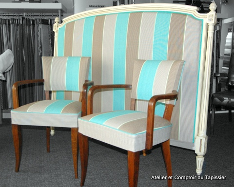 atelier et comptoir du tapissier t te de lit et bridges coordonn s. Black Bedroom Furniture Sets. Home Design Ideas