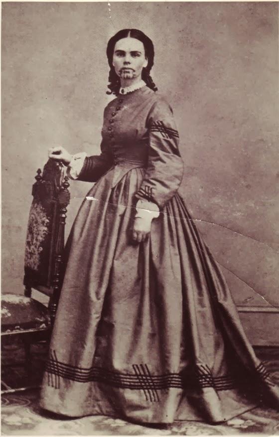 Olive Oatman, primeira mulher branca tatuada dos EUA