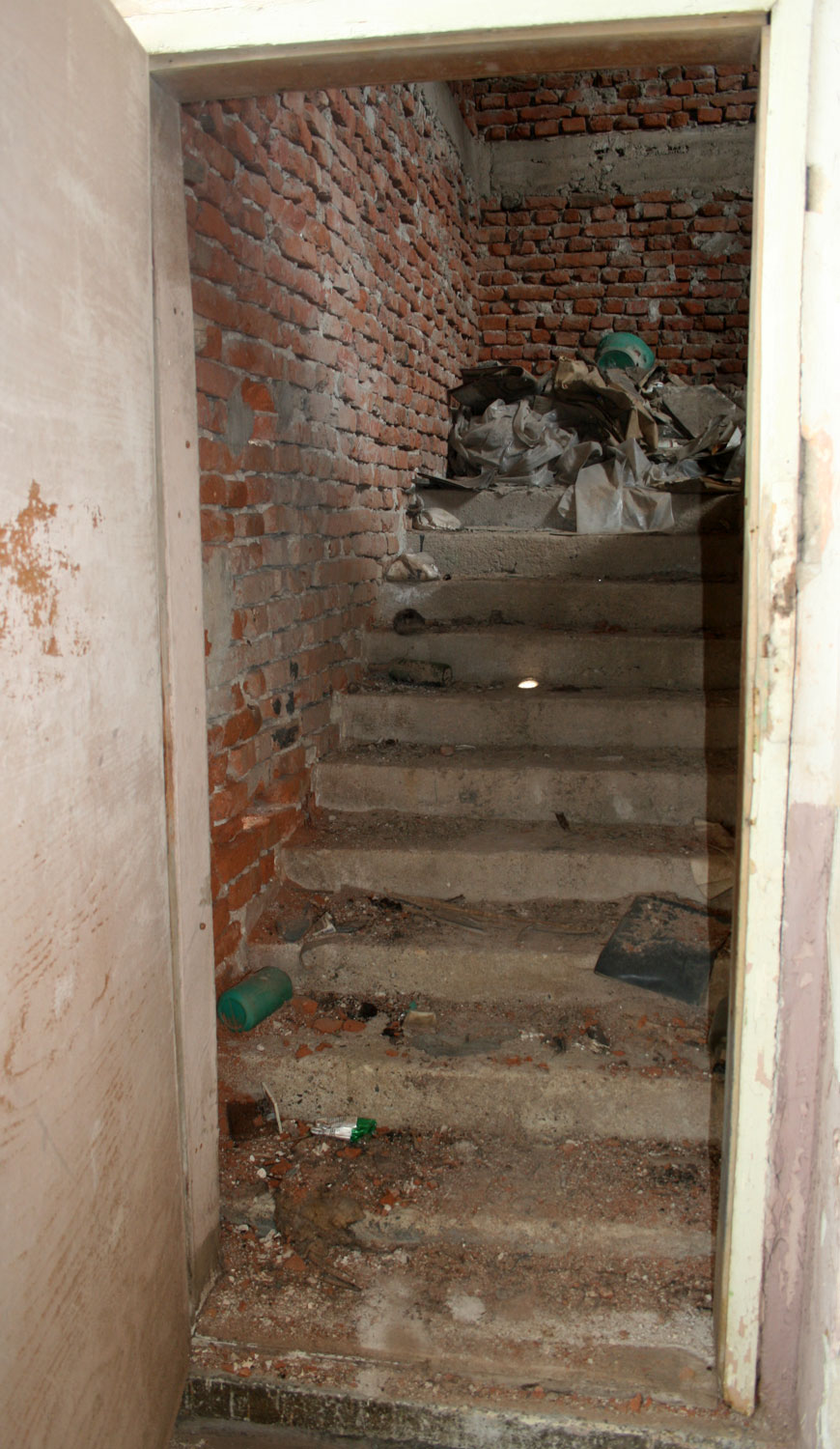 The Stairs Up To The Attic   Note They Are Concrete Too