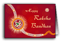 Happy raksha bandhan wishes card wallpaper