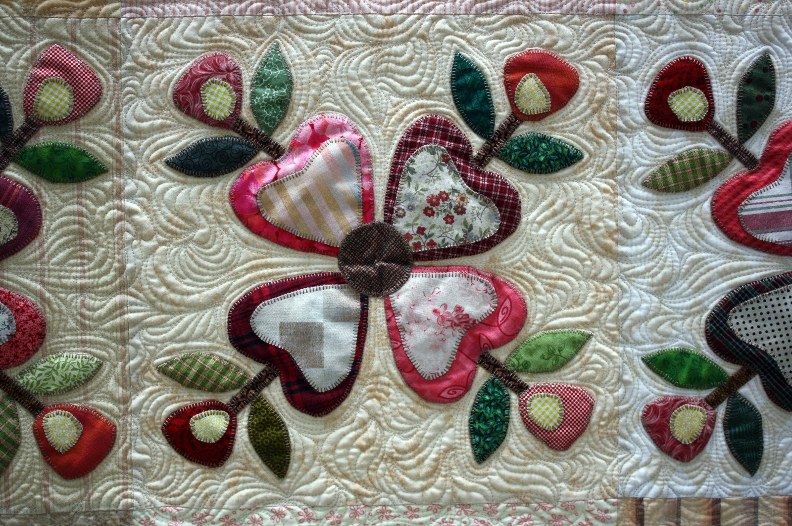 Marty s Fiber Musings: A Quilt: Flowers In The Wind....was added