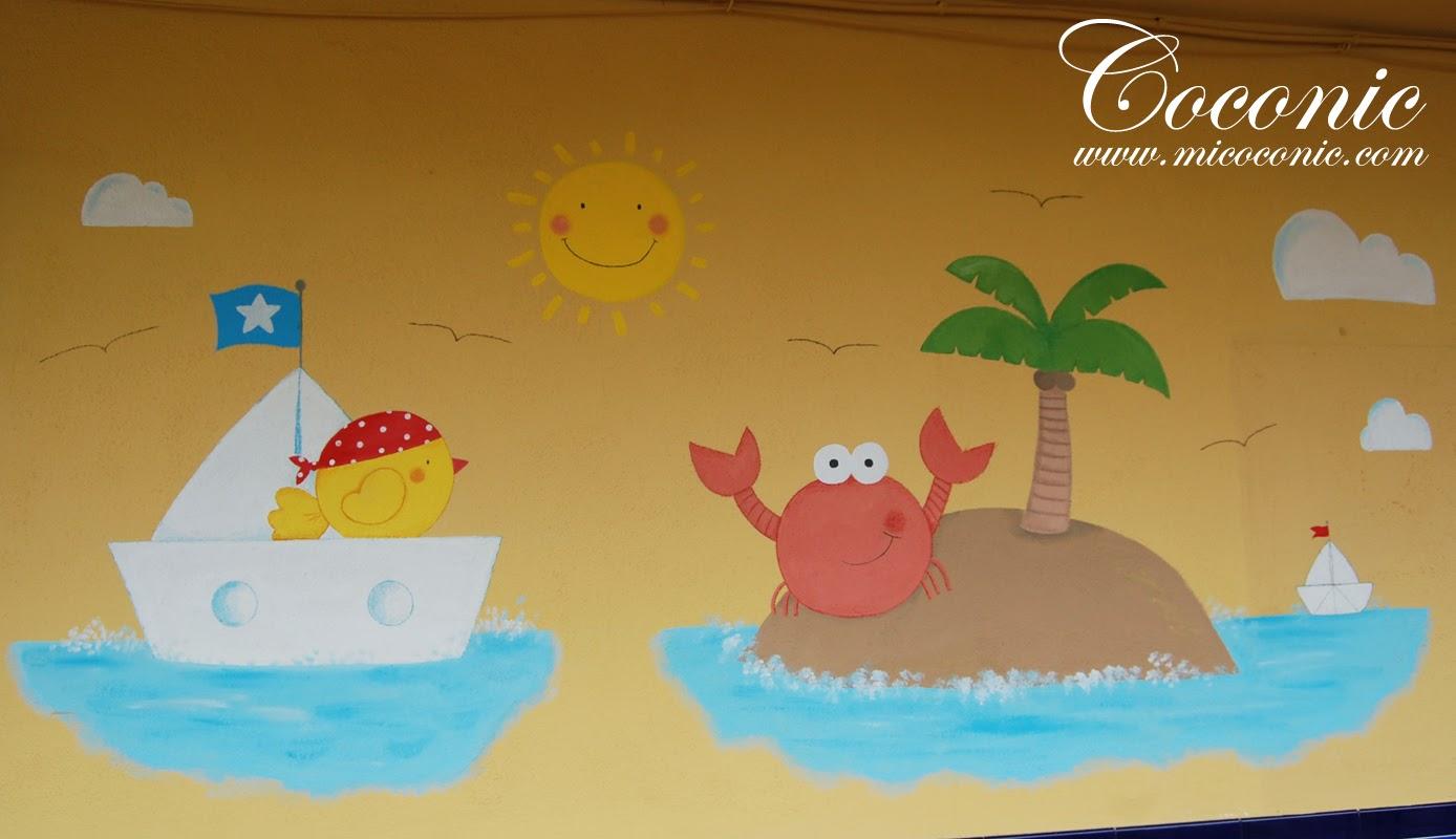 Murales infantiles para decorar el centro infantil menudos for Murales infantiles nina